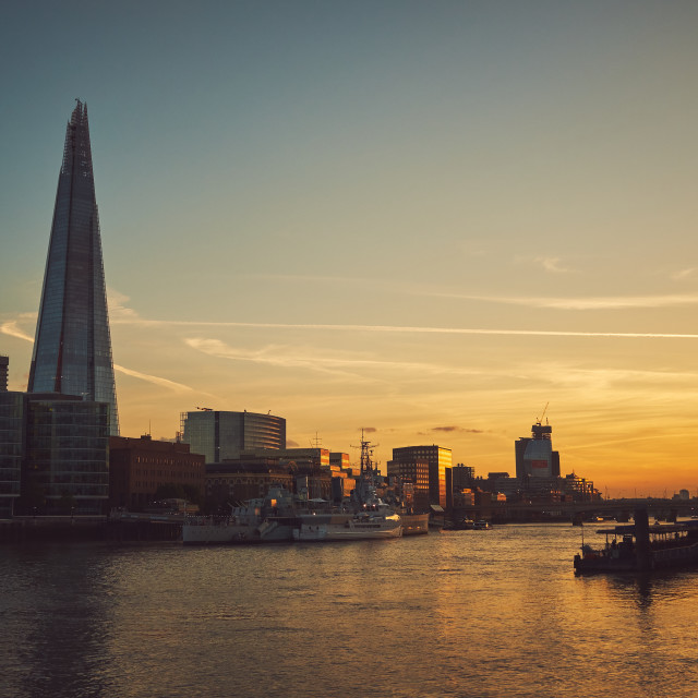 """Sunset in London"" stock image"