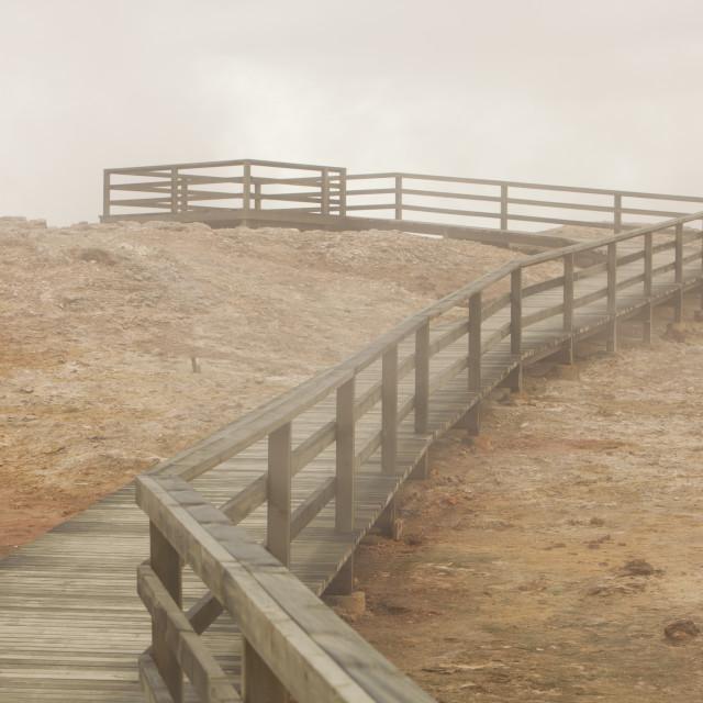 """Geothermal ground on the Reykjanes peninsular, Iceland"" stock image"