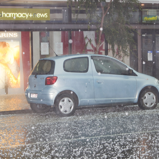 """""""On Saturday 6th March 2010, Melbourne was hit by the worst tropical storm..."""" stock image"""
