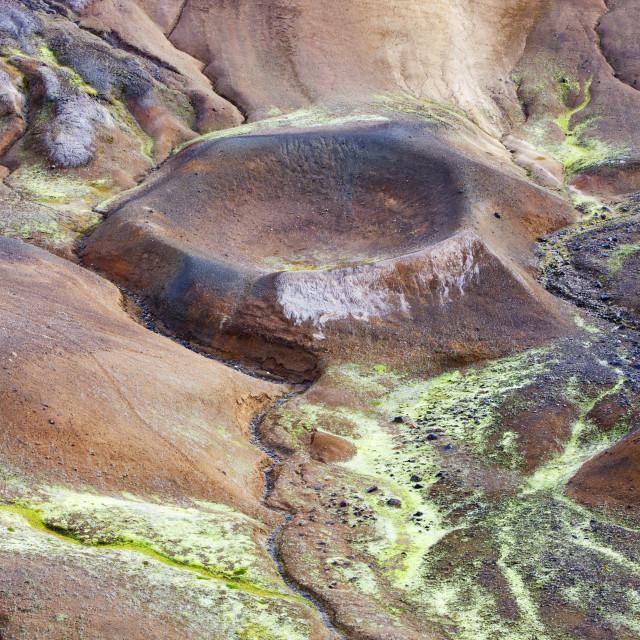 """Geothermal gorund at Krafla in northern Iceland."" stock image"