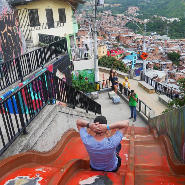 """Medellin barrio"" stock image"