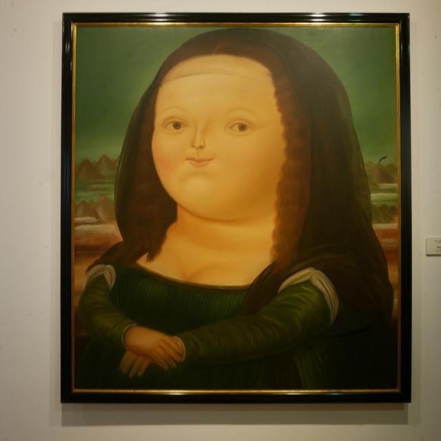 """""""Chubby Mona"""" stock image"""
