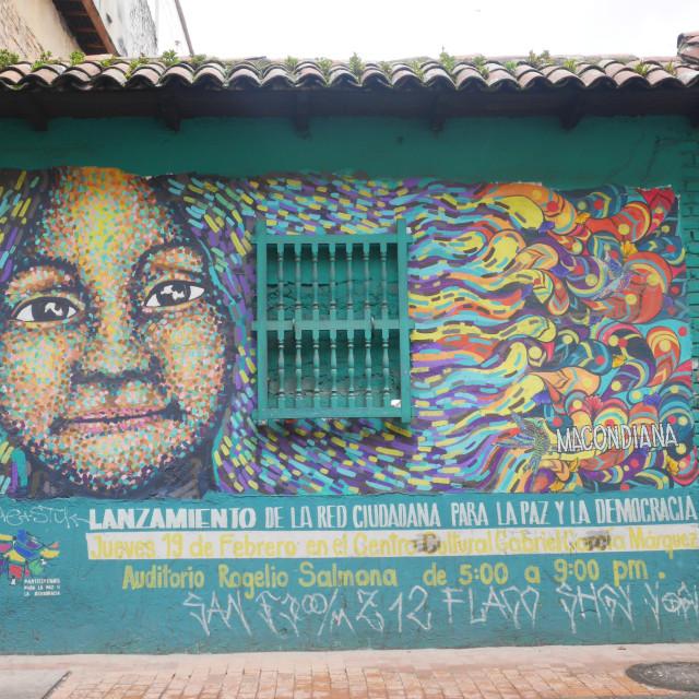 """""""Graffiti in Bogota"""" stock image"""