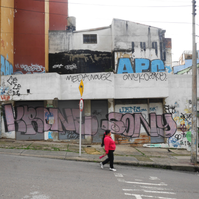 """Downtown Bogota"" stock image"