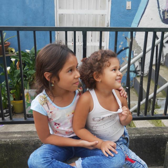 """""""Comuna 13 kids"""" stock image"""