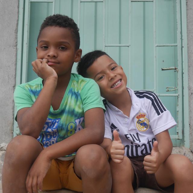 """""""Kids of Comuna 13"""" stock image"""