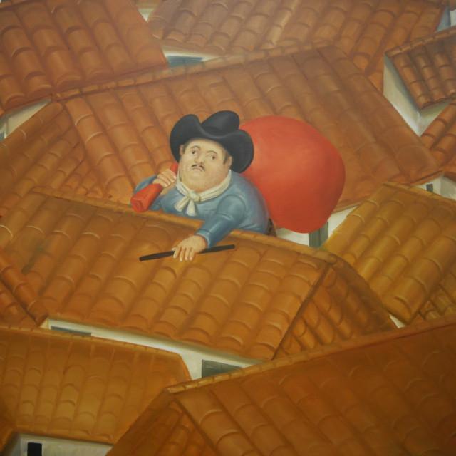 """Pablo Escobar by Botero"" stock image"