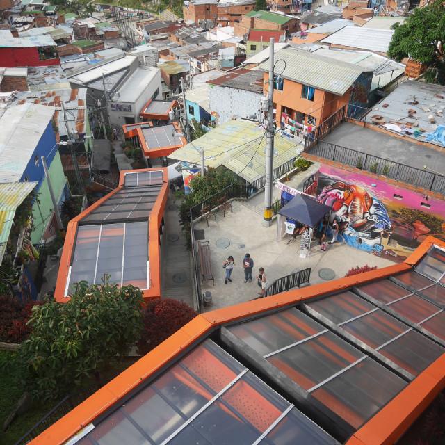 """Comuna 13"" stock image"