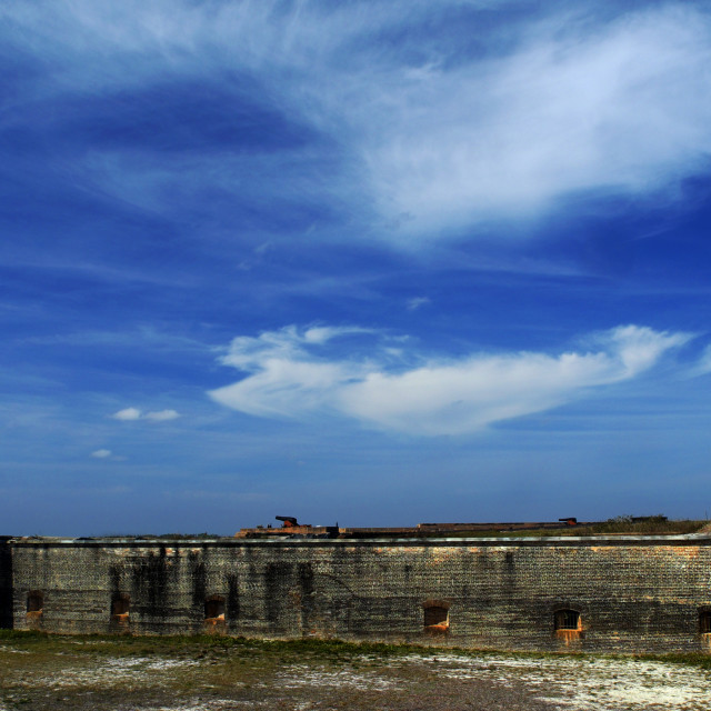"""Ft. Pickens Sky 2"" stock image"