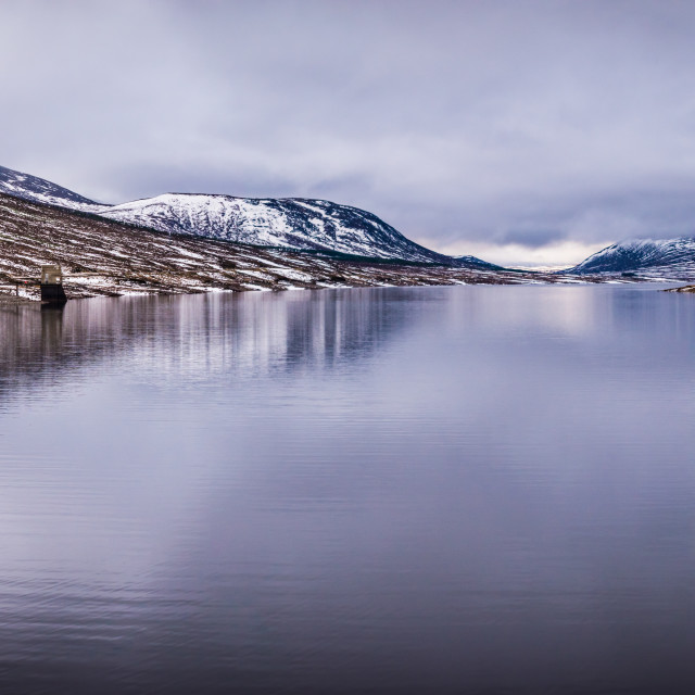 """Highland Loch reflecting"" stock image"