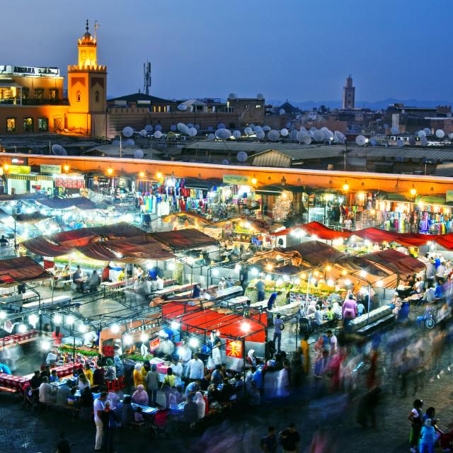"""""""Jemaa el-Fnaa square in Medina of Marrakesh, Morocco"""" stock image"""
