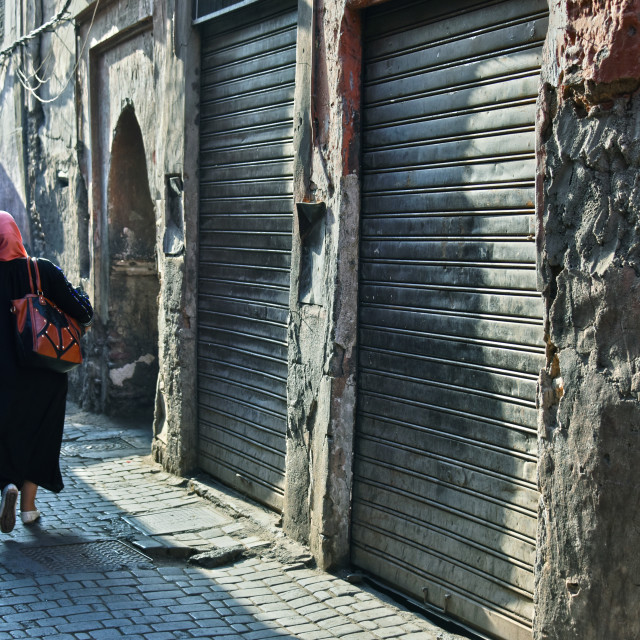 """Street of Marrakesh Medina, Morocco"" stock image"