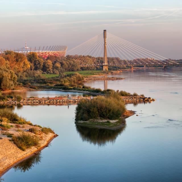 """Vistula River in Warsaw"" stock image"