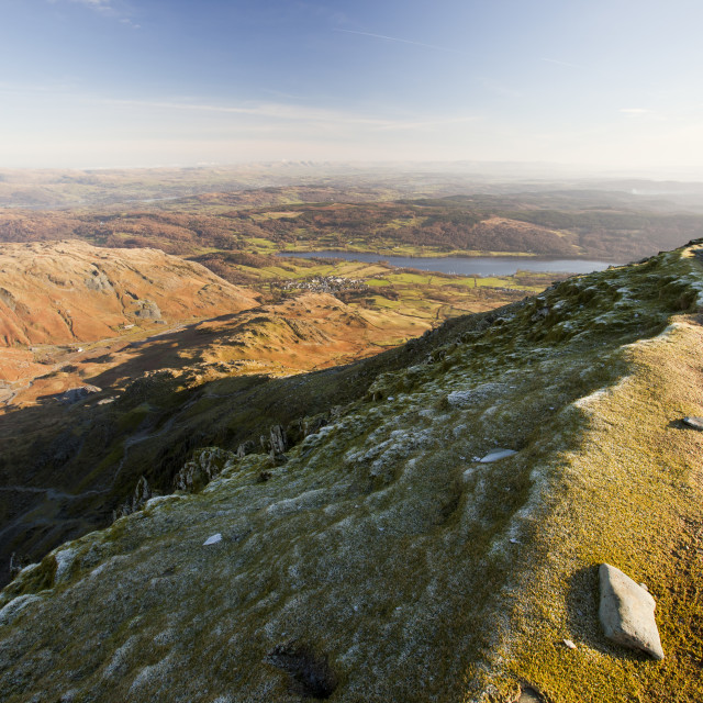 """""""The summit of Coniston Old Man in the Lake District, UK."""" stock image"""
