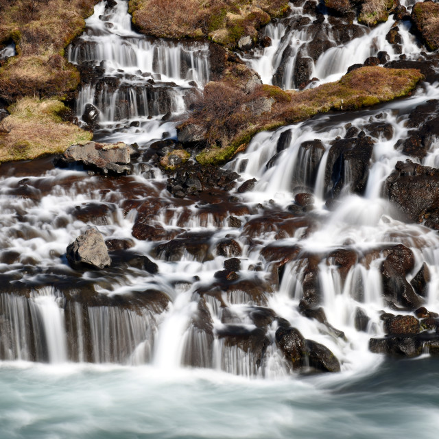 """Hraunfossar, Iceland"" stock image"