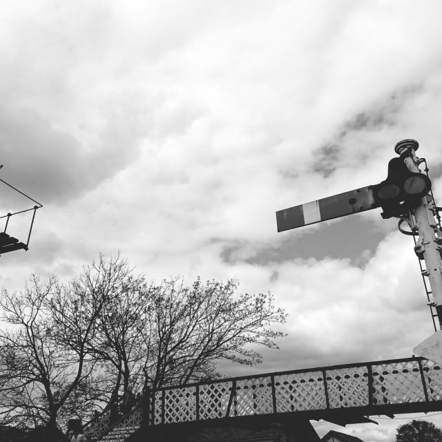 """Train Signals at Ramsbottom Station"" stock image"
