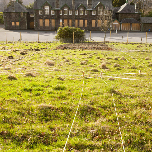 """""""A community allotment association taking over land given to them to grow..."""" stock image"""