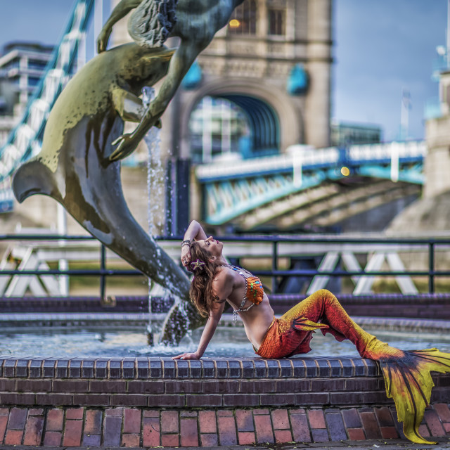 """Mermaid In London."" stock image"