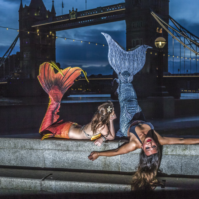 """London Mermaids"" stock image"