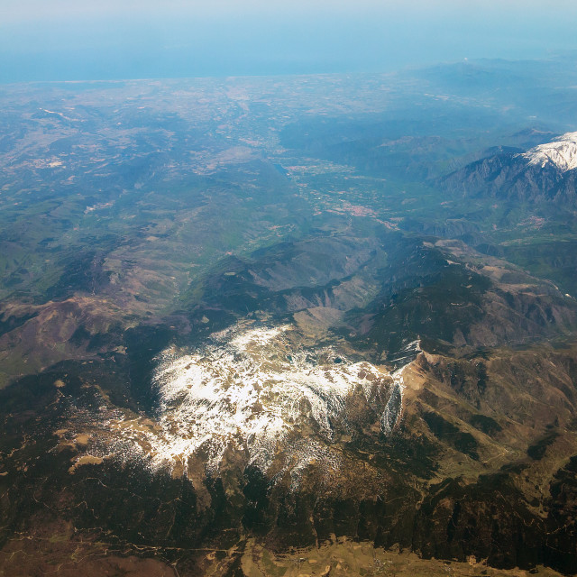 """""""Flying over the Pyrenees"""" stock image"""