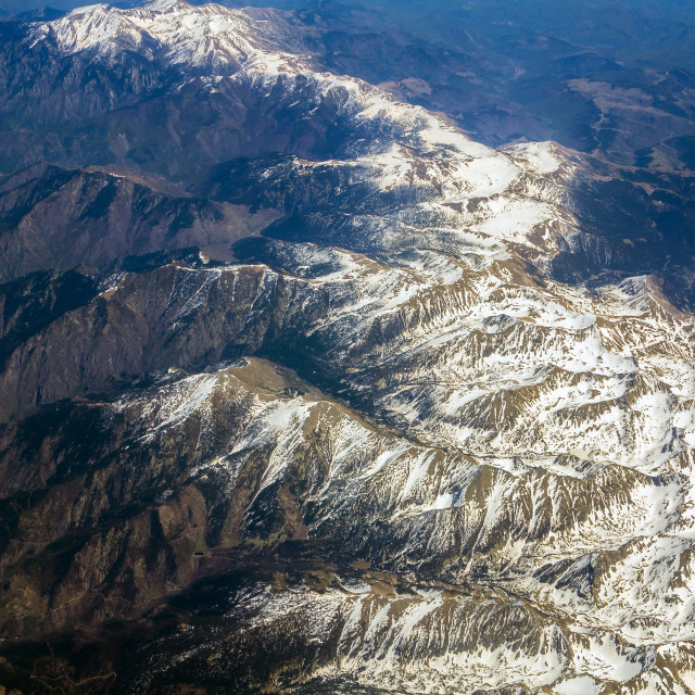 """Snow Capped Pyrenees"" stock image"