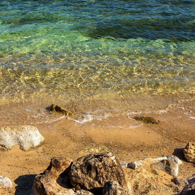 """Clear Waters, Rocks and Shoreline, Mallorca"" stock image"