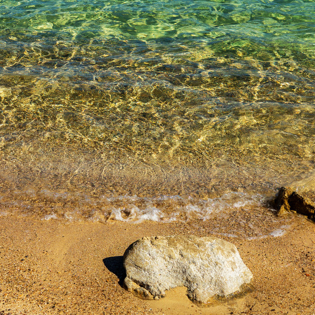 """Clear Waters, Sand and Rocks, Mallorca"" stock image"