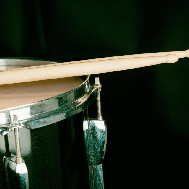 """""""Musical drummer on stage"""" stock image"""