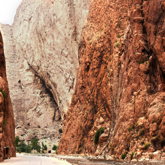 """""""Gorges du Toudra is a canyon in High Atlas Mountains in Morocco"""" stock image"""