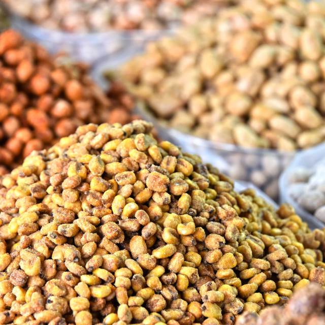 """Dried food on the arab street market stall"" stock image"