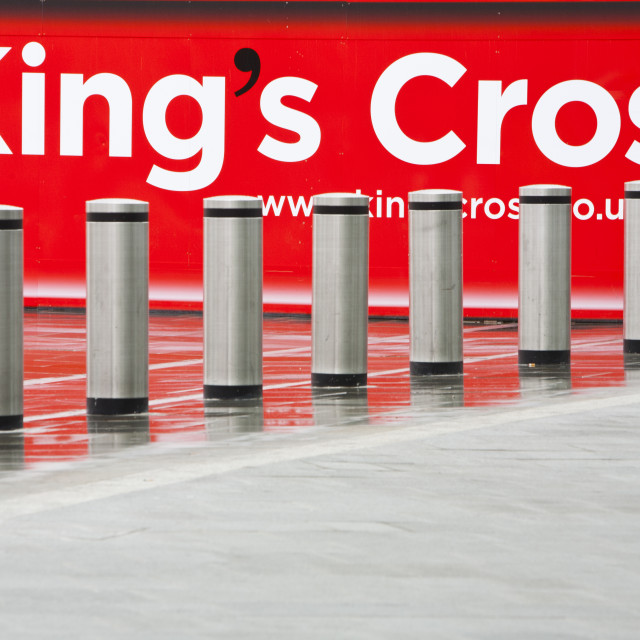 """Kings Cross renewal works, London, UK."" stock image"