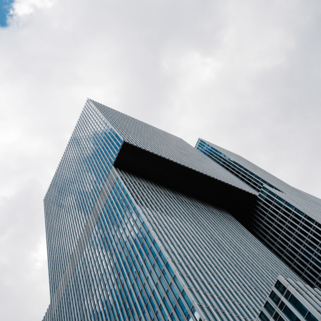 """""""Low angle view of modern architecture office building in Rotterd"""" stock image"""