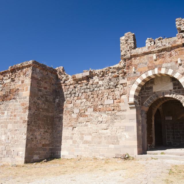 """Sigri Castle on Lesbos, Greece."" stock image"
