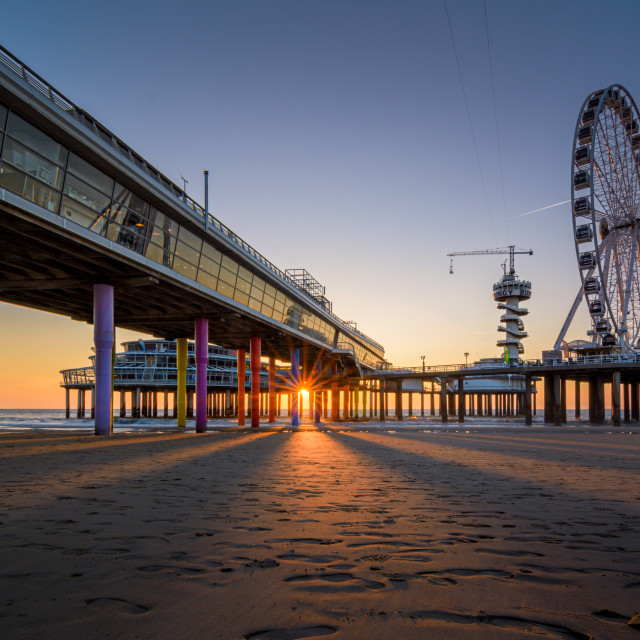 """the Pier of Scheveningen"" stock image"