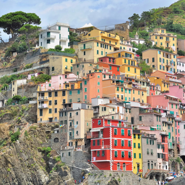 """Colorful italian village"" stock image"