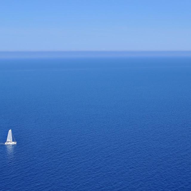"""""""sailboat in ocean"""" stock image"""