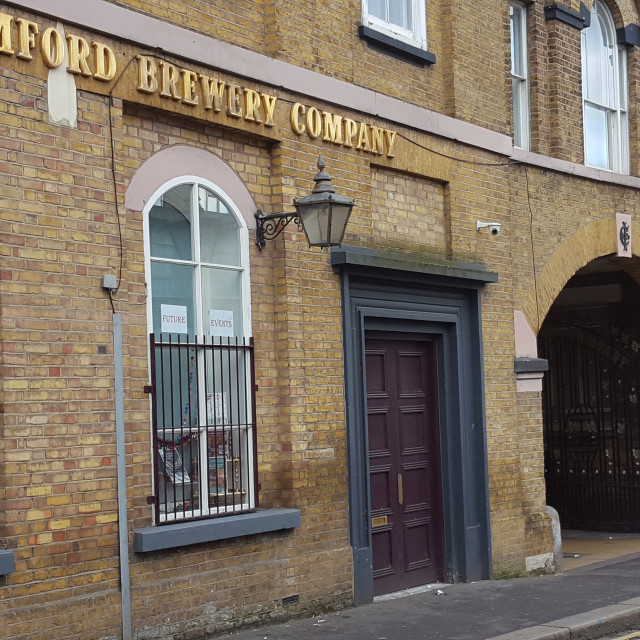 """Romford Brewery Facade"" stock image"