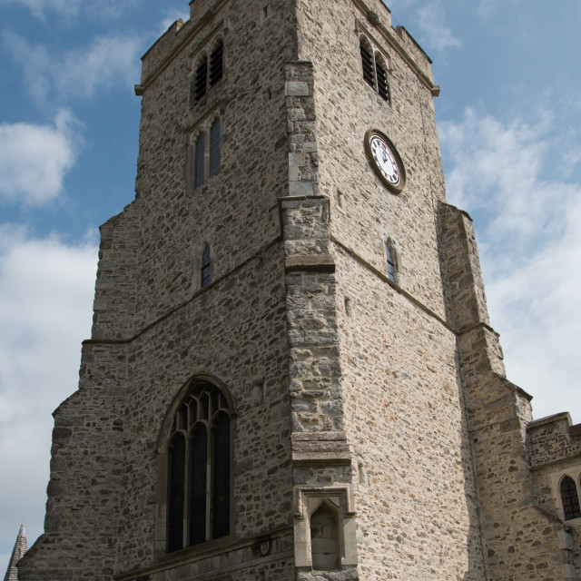 """Church Tower of Holy Trinity, Rayleigh"" stock image"