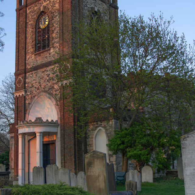 """Dagenham Parish Church"" stock image"