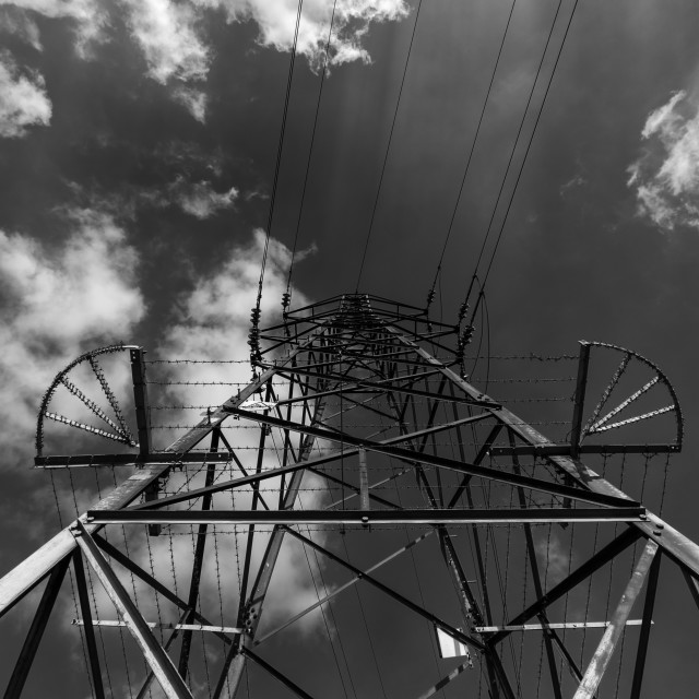 """Dark pylon"" stock image"