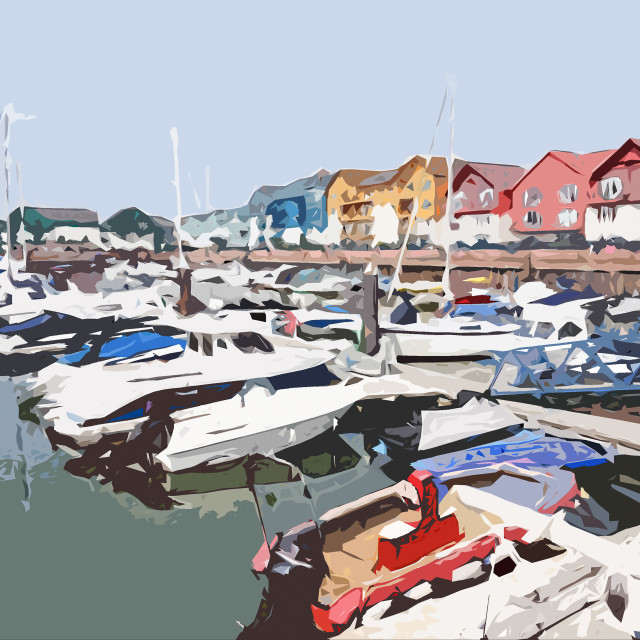 """""""The harbour"""" stock image"""