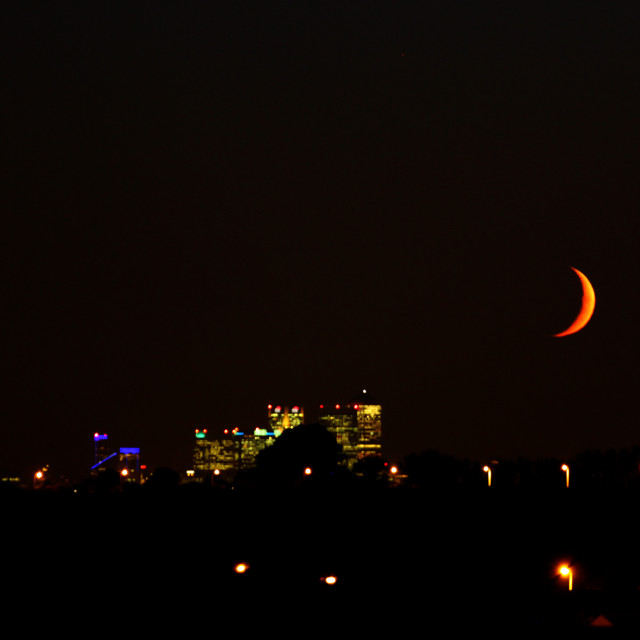 """Canary Wharf London Nightscape"" stock image"