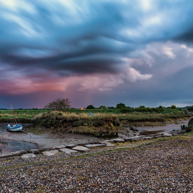 """Stormy Weather Over Beaumont and Thorpe"" stock image"