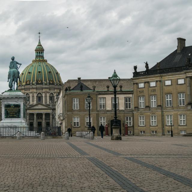 """""""Amalienborg Palace Square"""" stock image"""