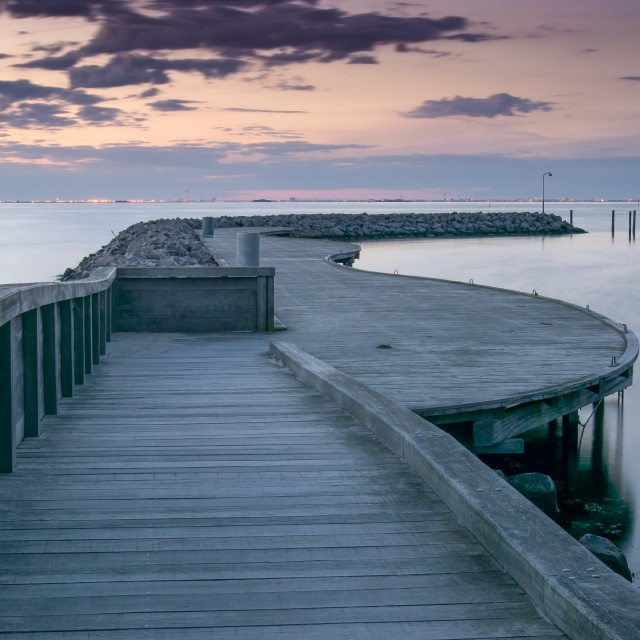 """Early Morning Pier"" stock image"