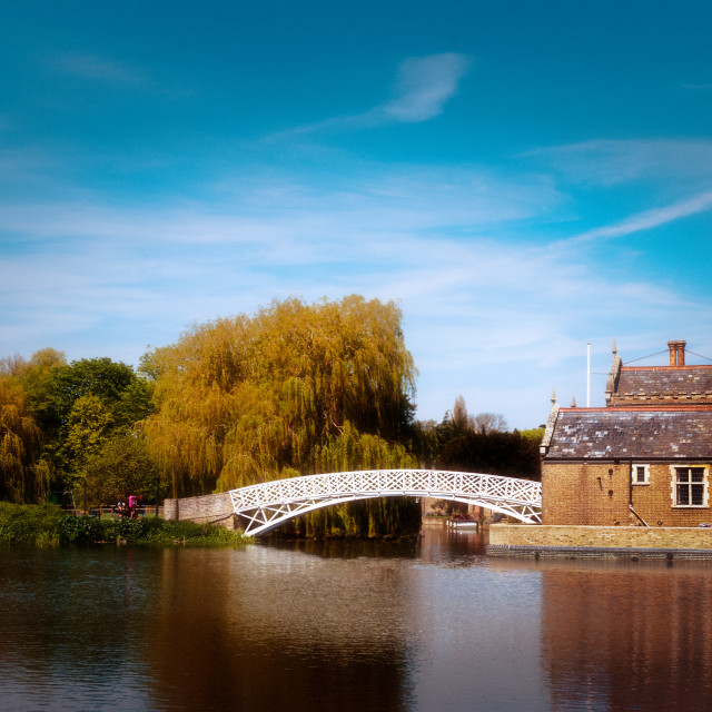 """Chinese Bridge at Godmanchester"" stock image"