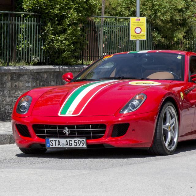 """""""Red Ferrari 599 GTB Fiorano"""" stock image"""