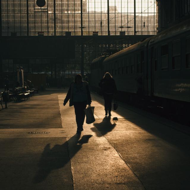 """""""Budapest Nyugati Train Station"""" stock image"""