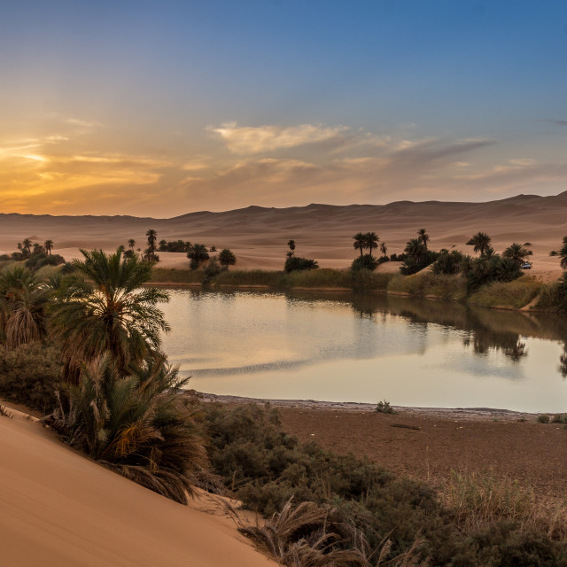 """Lake Umm Al - Maa"" stock image"