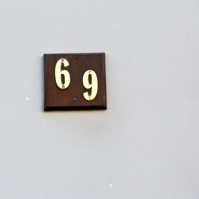 """number in a wall house like texture background"" stock image"